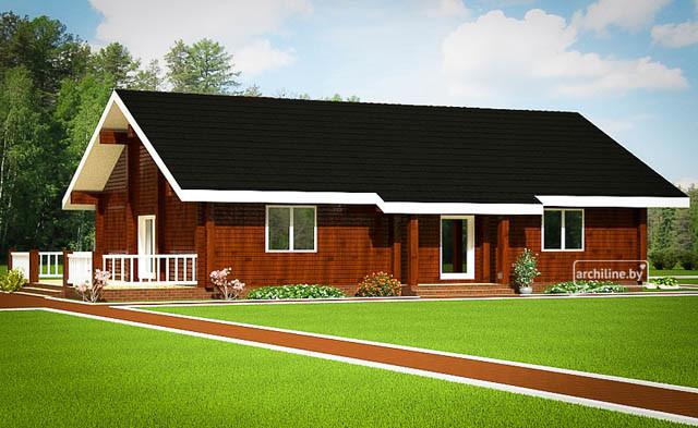 Drewniany dom w stylu francuskim 130m for Case in legno costruttori