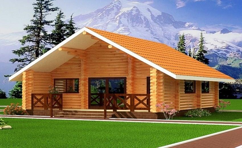Alpejska kawiarnia z drewna 53 m2 for Case di tronchi di blocchi di legno
