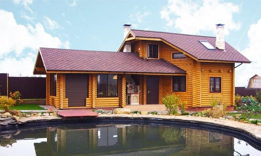 drewna gościnny powierzchnia netto73 m2 nieduży domek z drewna